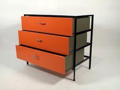 Storage - George Nelson. steel frame dresser, 1950s