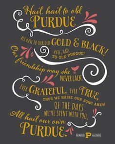 Hail Purdue printable | Purdue Alumni members: log in to our website to get your free Purdue Alumni printables.