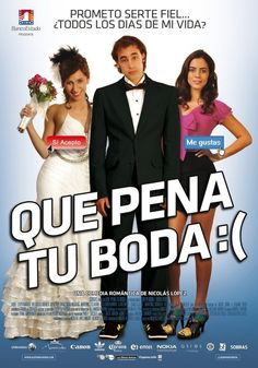 """Que Pena Tu Boda is a 2011 Chilean romance-comedy-drama film written by Nicolás López with a screenplay by Guillermo Amoedo and directed by Nicolás López. The film stars Ariel Levy, Andrea Velasco, Lorenzo Izzo, Paz Bascuñán, Nicolás Martínez, Julio Jung, Ramón Llao, and Claudia Celedón. Plot: When Angela gets pregnant, Javier proposes to her, but Javier's new intern wants more than his guidance in this sequel to """"Que Pena Tu Vida""""."""