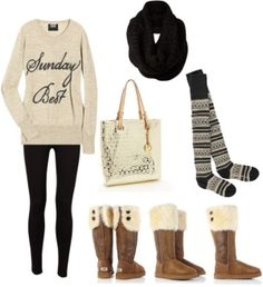 Comfy winter clothes everything but the bag Winter Outfits, Summer Outfits, Cute Outfits, Winter Clothes, Sunday Clothes, School Outfits, Summer Clothes, Winter Wear, Autumn Winter Fashion