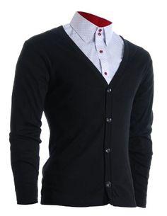 FLATSEVEN Mens Slim Fit Stylish Button up Cardigan (C100) Black, S FLATSEVEN http://www.amazon.com/dp/B00S8CN2DE/ref=cm_sw_r_pi_dp_8C6Xub1EYBFX3