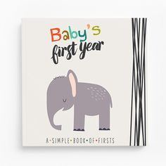 Baby's First Year Memory Book (elephant)