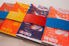 Pum Zine is a postcard independent project by Estudio Pum with fun drawings from 1 to number Silkscreen / 9 x 12 cm / each pack contains Leaflet Design, Graphic Design Layouts, Book Design Layout, Print Layout, Graphic Design Typography, Brochure Design, Postcard Layout, Postcard Design, Design Editorial