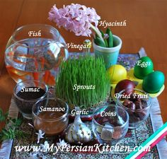 Norooz Essentials. I love the meaning behind this holiday!