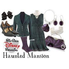 Haunted Mansion Plus Size Disney Bounding by bgdisneybound on Polyvore featuring Lane Bryant, John Fluevog, Miss Selfridge, NOVICA and Vintage