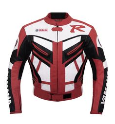 $315 Yamaha Red Racing Leather Jacket from www.speedfireusa.com