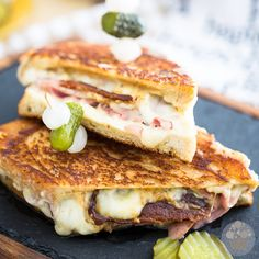 Smoked Ham Grilled Cheese Sandwich