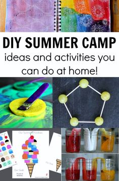 Ready to have a fun summer with your kids? These summer camp at home activities are jam packed with ideas to make summer planning easy! Home Activities, Summer Activities For Kids, Indoor Activities, Educational Activities, Toddler Activities, Learning Activities, Camping Activities, Camping Ideas, Camping Games