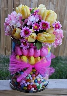 A better way to use Easter candy. http://media-cache7.pinterest.com/upload/201254677068131981_lS5rUrs0_f.jpg butlerss crafts