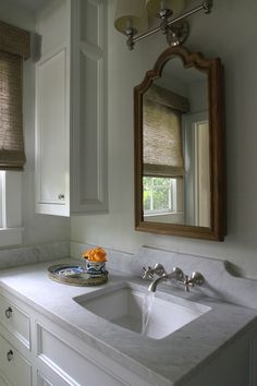 Bathroom by Lacy Phillips Designs Bathroom Renos, Bathrooms, Powder Rooms, Vanity Lighting, Master Bath, Sink, Interior Design, Mirror, Furniture