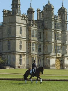 Andrew Hoy in front of Burghley House, Stamford, Lincolnshire, England