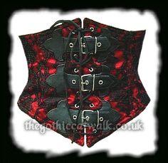 b1e156639e0 Red Lace Gothic Underbust Corset