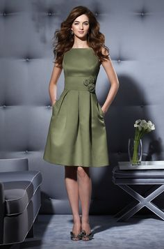 Dessy 2780 MOSS GREEN my favorite green Bridesmaid Dress | Weddington Way