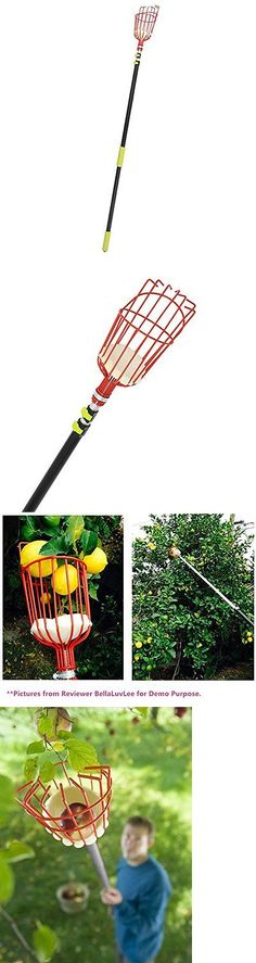 Fruit Pickers 181010: Ohuhu 13-Foot Fruit Picker With Light-Weight Aluminum Telescoping Pole -> BUY IT NOW ONLY: $48.67 on eBay!
