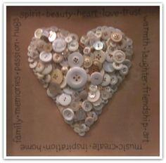 Button heart art!