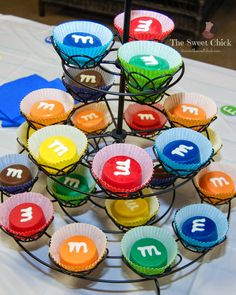 The Sweet Chick: M&M Birthday Party Favors