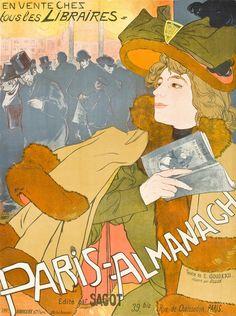 fuckyeahvintageillustration:  'Paris-Almanach', a poster design advertising a guide book to Paris by Georges de Feure, 1894. Source