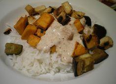 Sekundentakt: Tofu mit Süßkartoffen und Reis