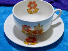 Vintage Mid-Century Cesol Portugal Cup and Saucer by midmodmadme