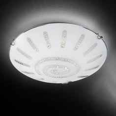 Ansehnliche LED Deckenleuchte Sonne Kristall in chrom,...