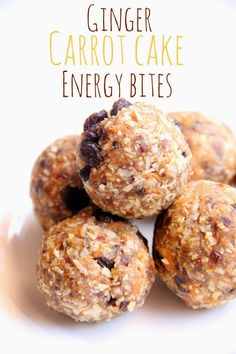 ginger carrot cake energy bites would make a yummy snack!
