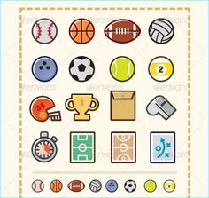 Illustration Icon Sports - Party Flyer Templates For Clubs Business & Marketing