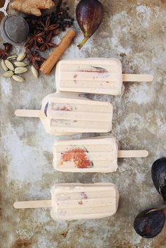 Chai-Spiced Coconut and Fig Popsicles, for when you're craving fall flavors, but it's still 90 degrees outside.