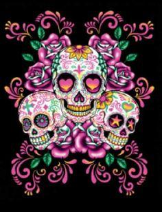 Sugar skull art ;)                                                                                                                                                                                 More