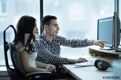 Buy Colleagues developing software together in office by on PhotoDune. IT colleagues developing software together in office Office Colleague, Happy Friends, Young Couples, Software Development, Teamwork, Royalty Free Images, Business Women, Workplace, Stock Photos