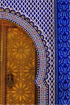 Morrocan tiles #doors