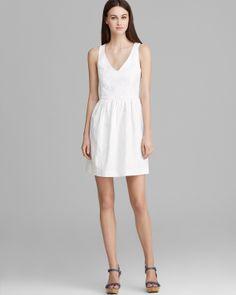4.collective Dress - Sleeveless V Neck Floral Jacquard | Bloomingdale's