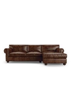 Oliver Leather Sectional