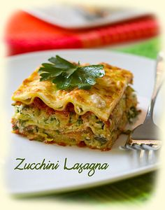 Лазанья с кабачками   Итальянская кухня