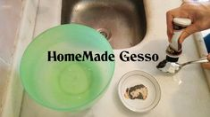 How to make HomeMade Gesso Make Your Own, Make It Yourself, Texture Paste, Baby Powder, How To Make Homemade, Art Studios, Color Mixing, Painting, Youtube