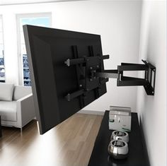 I'm sooo happy that we've managed to find the perfect full swivel mount for the tv in our bedroom! And, best! It can support the 50-inch tv we got for the room and we can even swivel it to the side of the balcony to watch while we're chilling out there! Great!