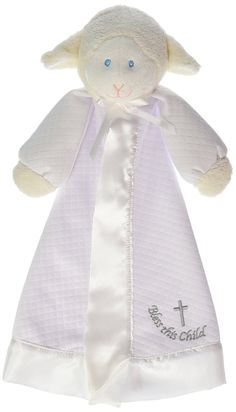 Mary Meyer Christening Lamb Blanket - 14 Inches -- Want additional info? Click on the image. (This is an affiliate link and I receive a commission for the sales)
