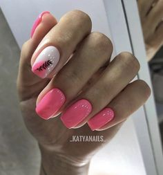 Discover new and inspirational nail art for your short nail designs. Learn with step by step instructions and recreate these designs in your very own home. Pink Nail Designs, Square Nail Designs, Stylish Nails, Trendy Nails, Nail Manicure, Nail Polish, Minimalist Nails, Cute Acrylic Nails, Hot Nails