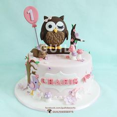 Owl Cake - Cake by guiltdesserts