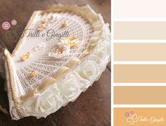 Una palette di colori adatta a un matrimonio: oro, bianco e panna.  A color palette with gold and White. #wedding #palette #gold #bouquet