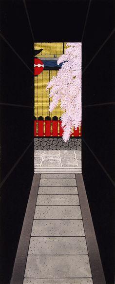 木版画 加藤晃秀「しだれろーじ」                                                                                                                                                     もっと見る