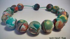 Polyer clay fimo cernit beautiful handmade beads