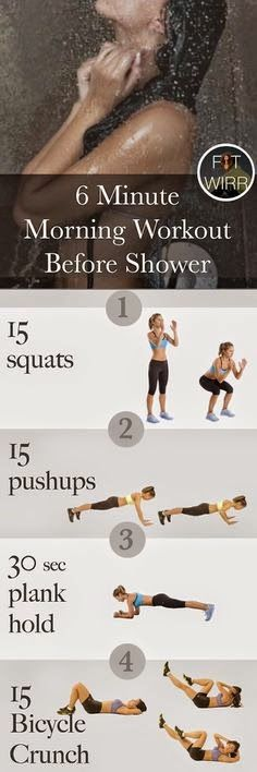 6 minute morning workouts before you shower