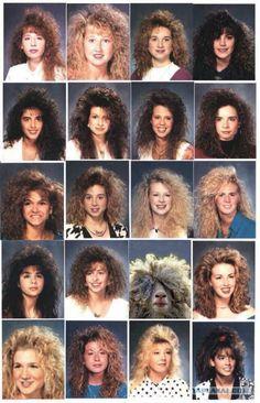 Yearbook where everyone had Big Hair Look Disco, Disco Hair, Look 80s, 80s Party Outfits, 80s Party Costumes, 80s Costume, The Wedding Singer, 80s Aesthetic, Estilo Retro