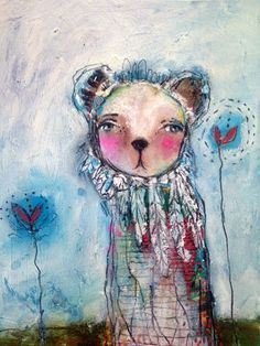 Artwork From My Online Students Kunstjournal Inspiration, Art Journal Inspiration, Online Painting Classes, Fiber Art Jewelry, Whimsical Owl, Unusual Art, Elements Of Art, Watercolor Paintings, Small Paintings