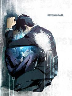 Anime Couple :: Psycho Pass :: Shinya and Akane Me Me Me Anime, Anime Love, Manga Art, Manga Anime, Kogami Shinya, Kuzu No Honkai, Death Parade, Noragami, My Heart Is Breaking