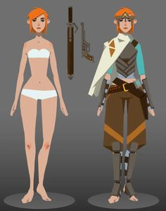 Future Wanderer Female by furygalluzzi on DeviantArt Simple Character, 3d Model Character, Female Character Design, Character Modeling, Character Design References, Character Design Inspiration, Character Concept, Character Art, Concept Art