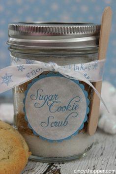 DIY Sugar Cookie Scrub with FREE Printable Label- Easy Last minute gift!