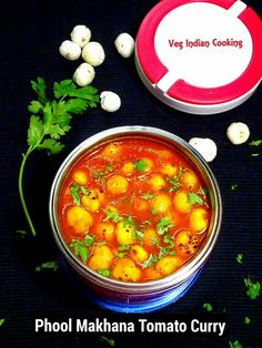 Phool Makhana Tomato Curry Today's blog post is super quick, healthy, delicious recipe of puffed lotus seeds which are cooked in delectable buttery tomato curry....   #makhana #lotusseed #puffedlotusseed #indianfood #indianrecipes #indiancuisine #easyrecipes #foodblogger #vegindiangoodfood #vegindiancooking