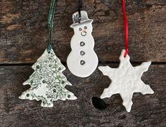 Handmade Christmas Decorations - Set of Three