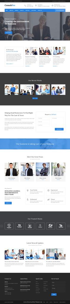 Consultpro is a clean and Modern #Bootstrap HTML Template. Consultpro is best suited for #corporate #website like Financial Adviser, Accountant, Consulting Firms, insurance, loan, tax help, Investment firm etc.